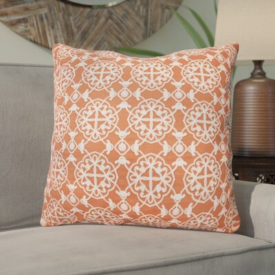 Drago Embroidered Throw Pillow Color: Coral