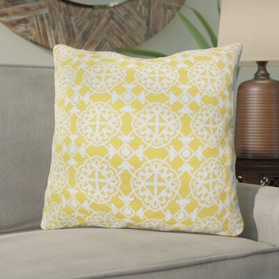 Drago Embroidered Throw Pillow Color: Yellow