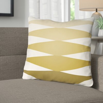 Wakefield Throw Pillow Size: 18 H x 18 W x 4 D, Color: Gold