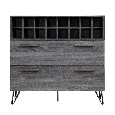 Aguirre Mid Century Bar Cabinet Color: Gray
