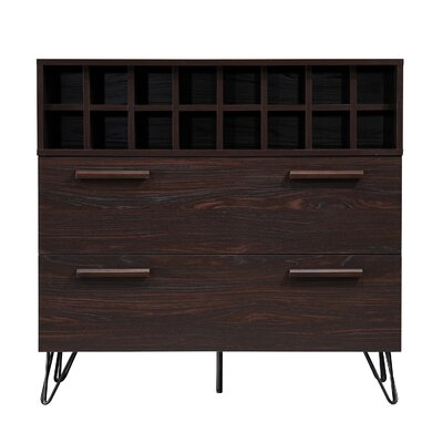 Aguirre Mid Century Bar Cabinet Color: Wenge