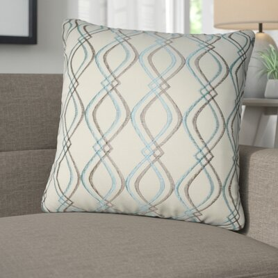 Picasso Decorative Cotton Throw Pillow Color: Cream, Dark Gray and Blue