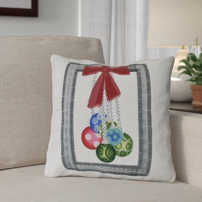 Frame It Up Outdoor Throw Pillow Size: 18 H x 18 W, Color: Gray