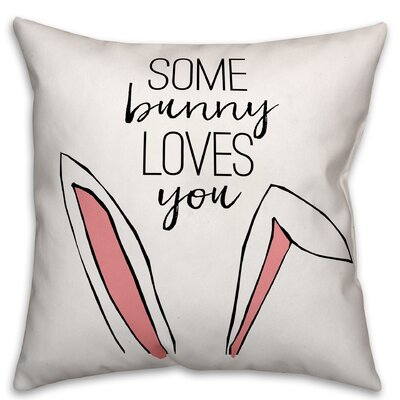 Hartman Some Bunny Loves You Throw Pillow