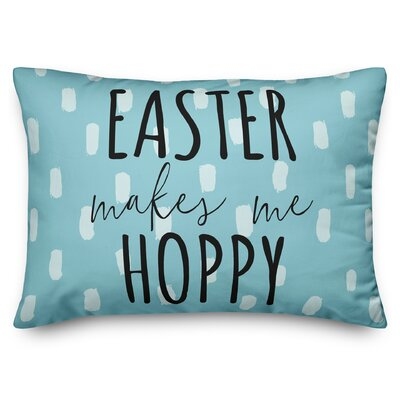 Bever Easter Makes Me Hoppy Lumbar Pillow