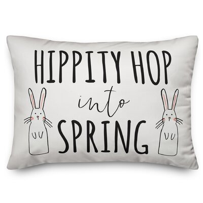 Beveridge Hippity Hop Into Spring Lumbar Pillow