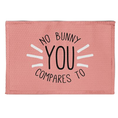Tremper No Bunny Compares To You Pink Area Rug