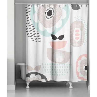 Gammill Mid Mod Pastels Shower Curtain