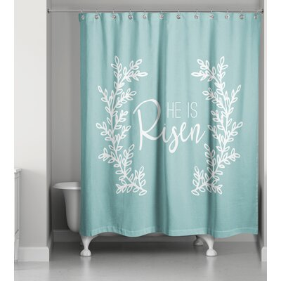 Bissell He is Risen Shower Curtain