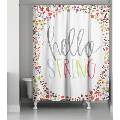 Blais Hello Spring Shower Curtain