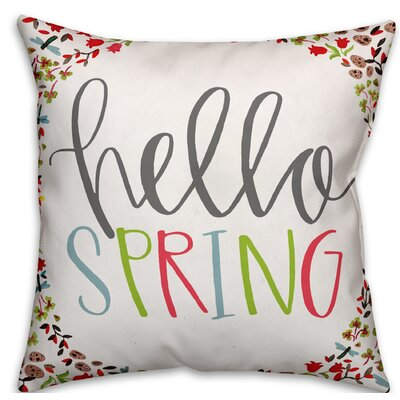 Blais Hello Spring Throw Pillow