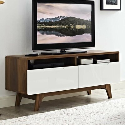 Coledale 47 TV Stand Color: Walnut-White