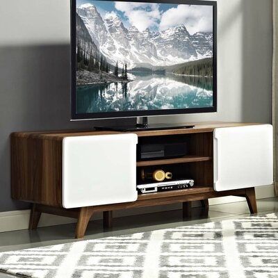 Colbin 59 TV Stand Color: Walnut-White