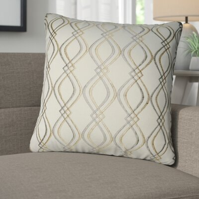 Picasso Decorative Cotton Throw Pillow Color: Cream, Taupe and Tan
