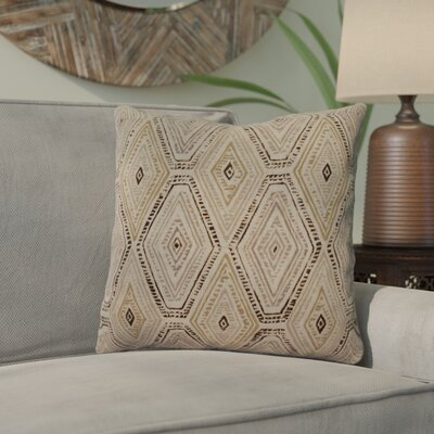 Dacey 100% Cotton Throw Pillow Color: Marsala