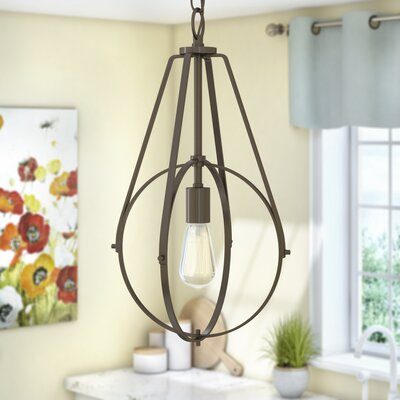 Cherry Hill 1-Light Geometric Pendant Finish: Burnished Bronze