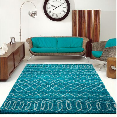 Chesnut Shaggy Turquoise Area Rug Rug Size: Rectangle 710 x 107