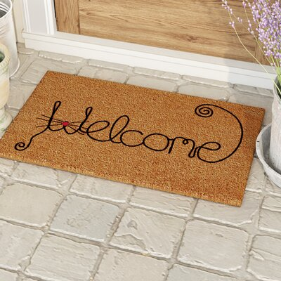 Redfern Kitty Curlicue Doormat Mat Size: 14 x 24