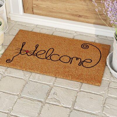 Redfern Kitty Curlicue Doormat Rug Size: 14 x 24