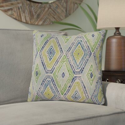 Dacey 100% Cotton Throw Pillow Color: Nile