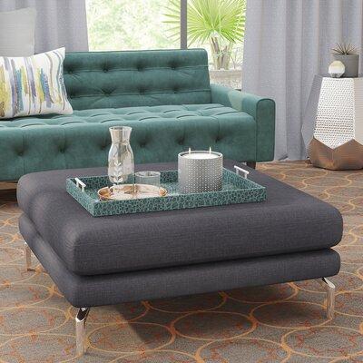 Tia Modern Loft Ottoman Upholstery: Midnight Oil