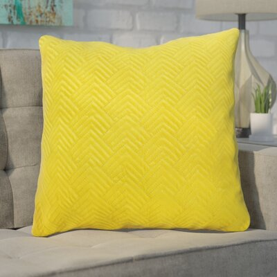 Bishopville Quilted Throw Pillow Color: Yellow