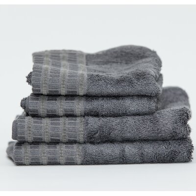 Fetters Classic Rayon from Bamboo 4 Piece Fingertip Towel Set Color: Dark Anthracite