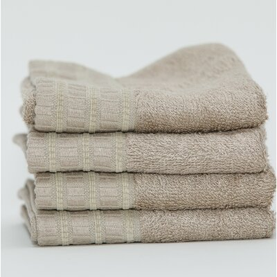 Fetters Classic Rayon from Bamboo 4 Piece Fingertip Towel Set Color: Linen