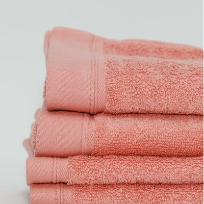 Fetterman Classic Cotton Fingertip Towel Color: Salmon