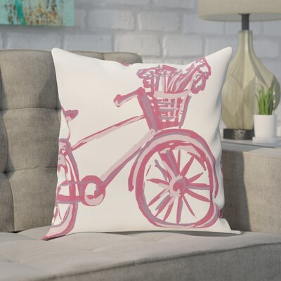 Chesser Outdoor Throw Pillow Color: Pink Cheeks, Size: 18 H x 18 W x 1 D