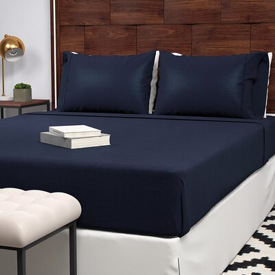 Extra Soft 400 Thread Count 100% Cotton Sheet Set Size: Queen, Color: Navy
