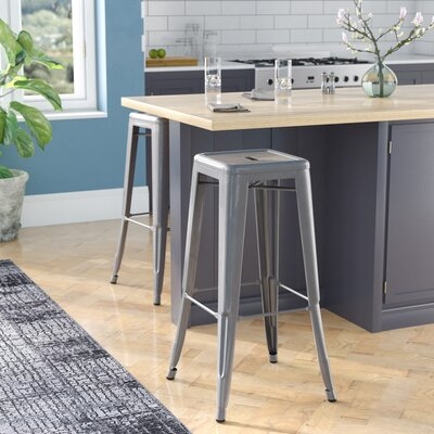 Jerome Backless Metal 30.25 Bar Stool
