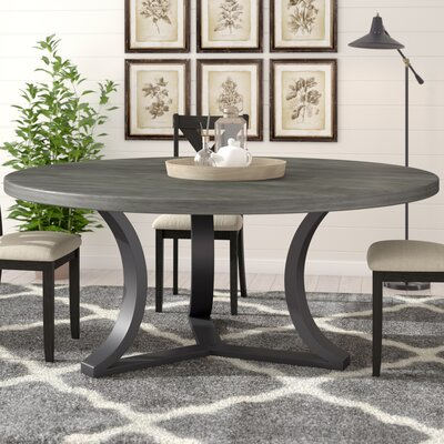 Louisa Rounded Dining Table Finish: Dry Cement