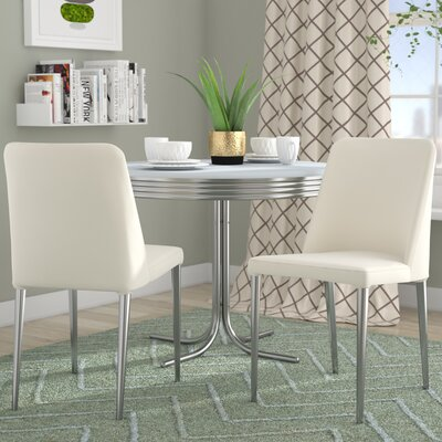 Drummaul Upholstered Dining Chair Color: White