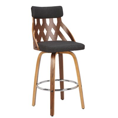 Charlotte 26 Swivel Bar Stool Color: Charcoal