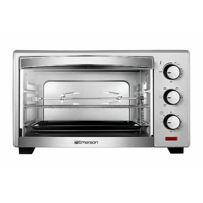 0.74 Cu. Ft. 6 Slice Convection and Rotisserie Countertop Toaster Oven ER101003