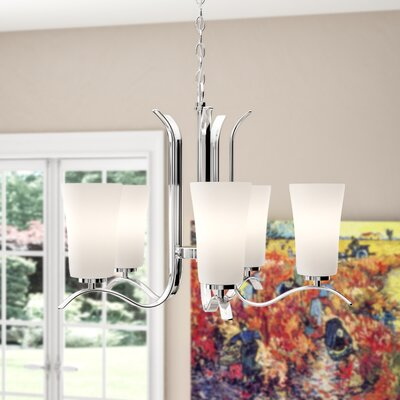Guerro 5-Light Shaded Chandelier Finish: Chrome