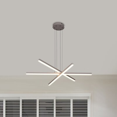 Northgate 3-Light LED Geometric Pendant Finish: Silver