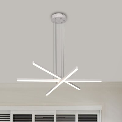 Northgate 3-Light LED Geometric Pendant Finish: White
