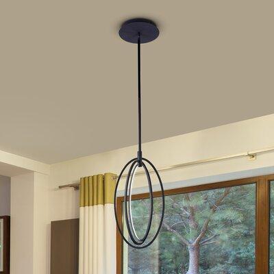 Claus Oval Rotating 3-Light LED Geometric Pendant