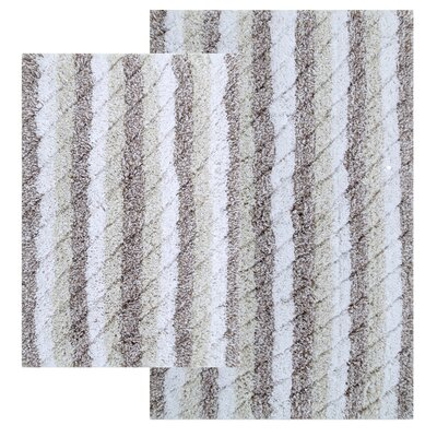 Cardoso Ring-Spun Cotton Textured Bath Rug Color: Sage