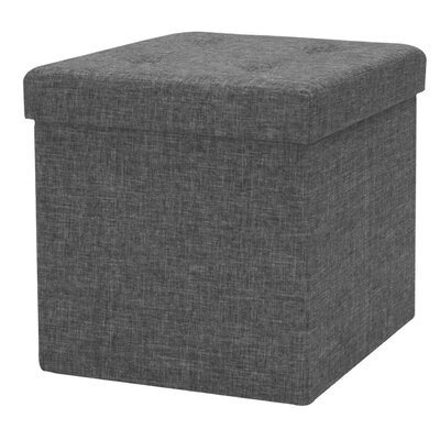 Timko Storage Tufted Ottoman (Set of 12) Finish: Gray