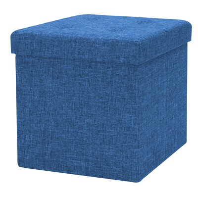 Timko Storage Tufted Ottoman (Set of 12) Finish: Blue