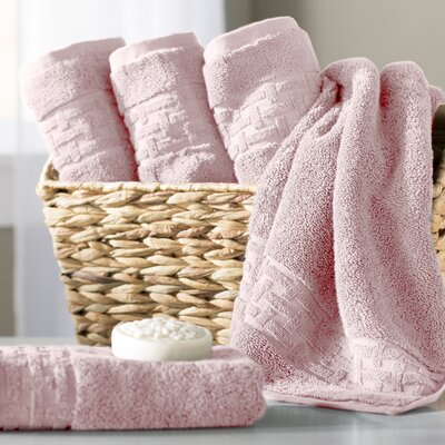 Pierce Hand Towel Color: Rose