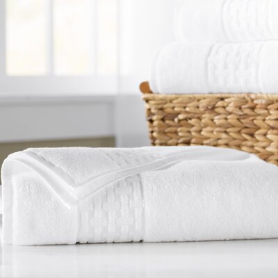 Pierce Bath Sheet Color: White