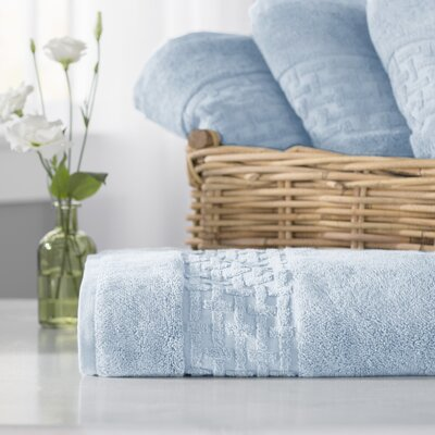 Pierce Bath Towel Color: Sky Blue