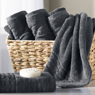 Pierce Hand Towel Color: Charcoal Gray