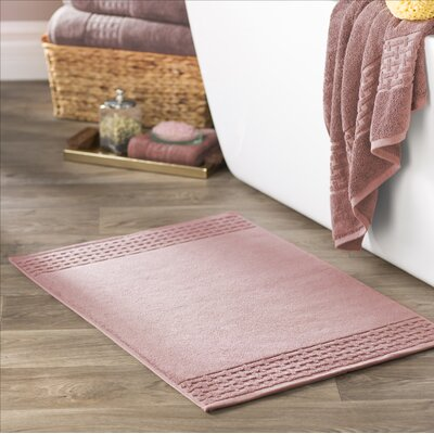 Pierce Bath Mat Color: Rose
