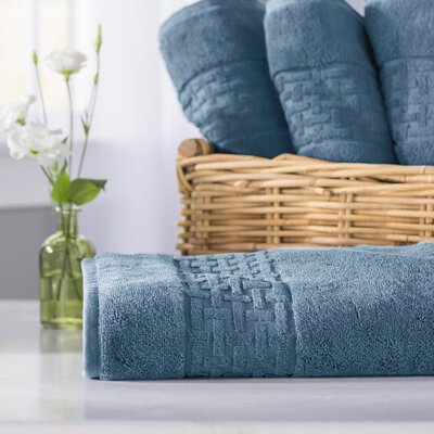 Pierce Bath Towel Color: King Fisher Blue