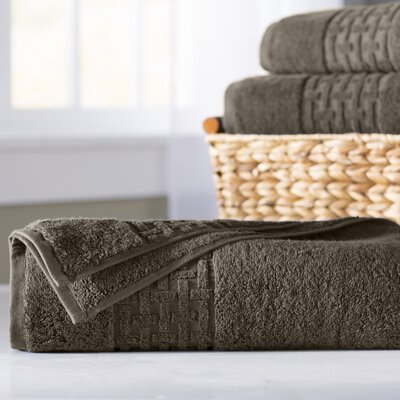 Pierce Bath Sheet Color: Faded Espresso